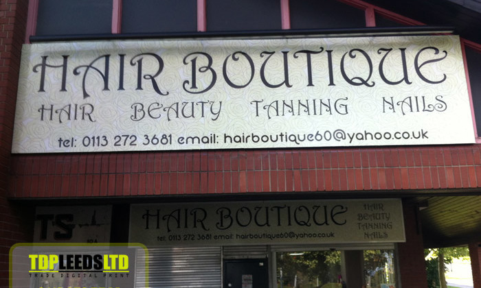 TDP Leeds signs for Hair Boutique-in-Leeds