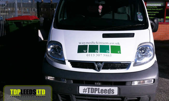 TDP Leeds vehicle graphics for Wayne Dickinson DC