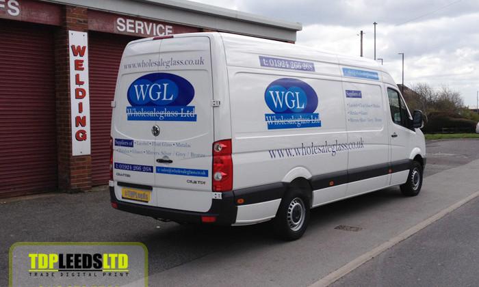 TDP Leeds vehicle graphics for Wholesale Glass Ltd